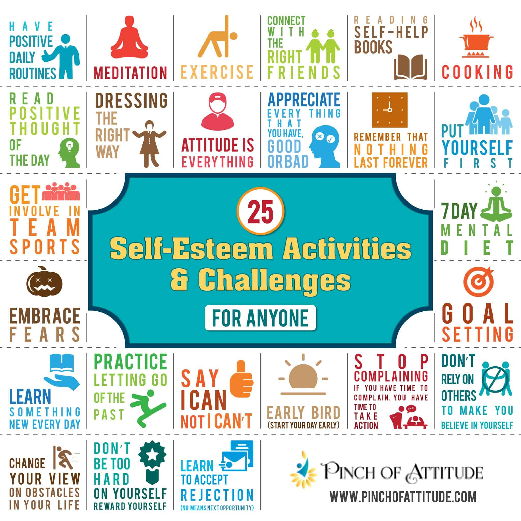 25 self esteem activities and challenges for anyone fandeluxe Images
